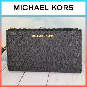 Michael Kors Double Zip Phone Wallet Wristlet